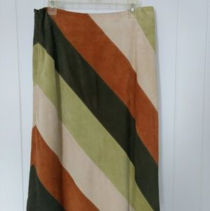Gap 1969 Multicolored Suede A-Line Skirt sz 12